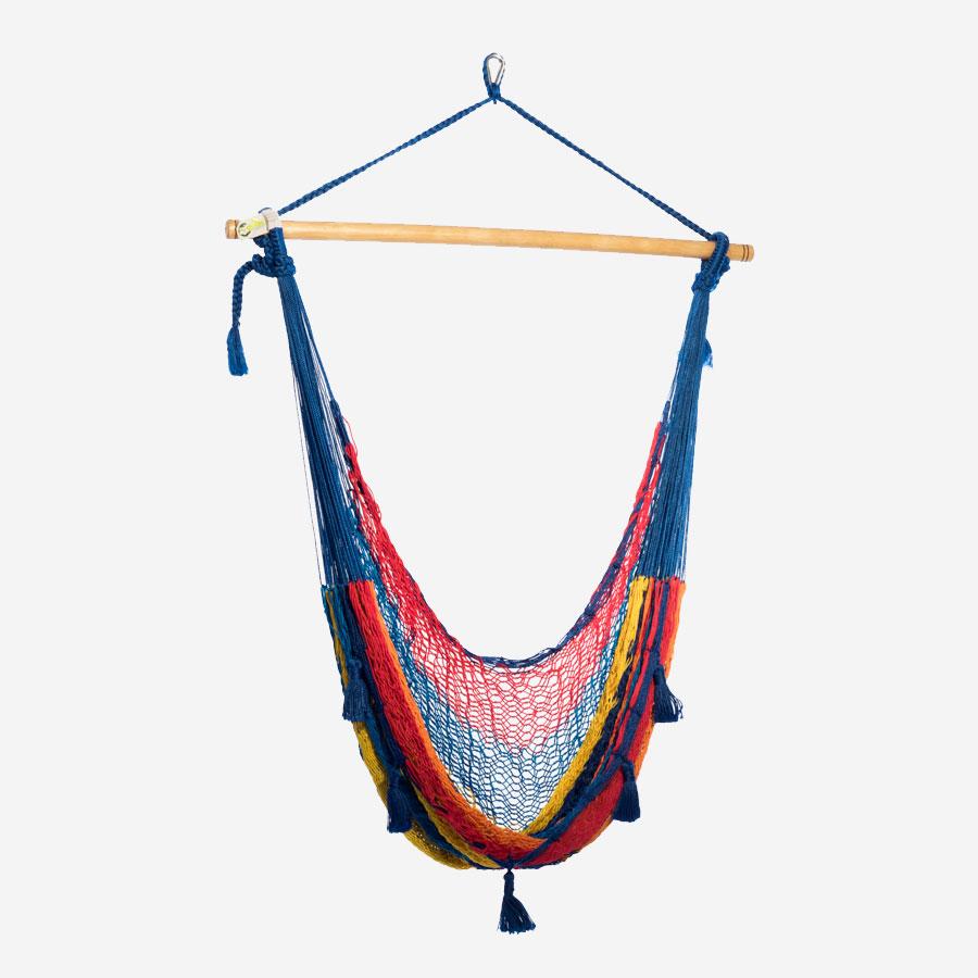 yucatan chaise hamac mexicaine filet nylon la maison du hamac. Black Bedroom Furniture Sets. Home Design Ideas