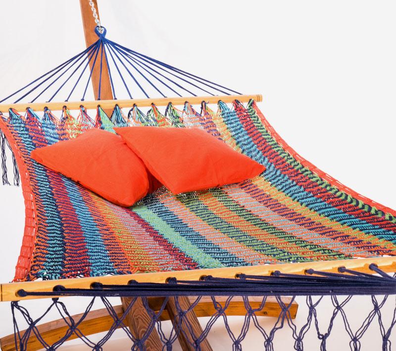 ensemble hamac interm diaire b tons merida et support en bois pour hamac la maison du hamac. Black Bedroom Furniture Sets. Home Design Ideas